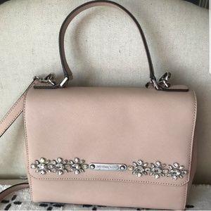 Michael Kors Callie Jeweled Pink Satchel